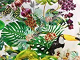Tropical bird & Garden Stoff Vorhang Polster Baumwolle