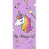 Secaneta-Toalla 75X150CM Terciopelo Estampada Magical Malva, Color, 75 x 150 cm (8412491040625)