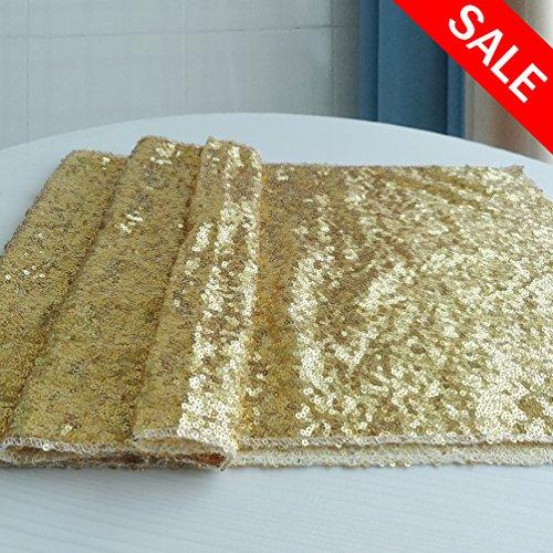 """San Tungus® 8052333x 213,4cm chemins de Table, Tissu, doré, 13""""x84"""""""