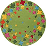 Esprit Kinderteppich Bloom Field | grün - 100 x 100