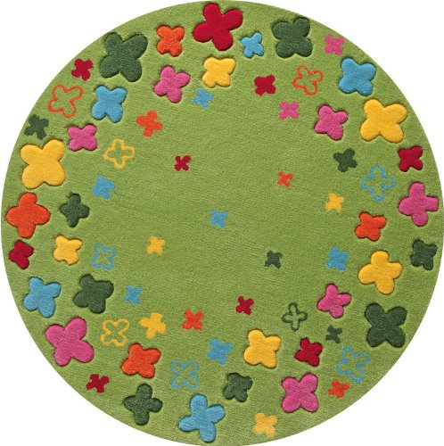 Esprit Kinderteppich Bloom Field | grün - 100 x 100
