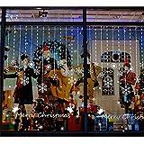 ufengke Feliz Navidad Copo de Nieve Blanco Adornos Creativos Escaparate Pegatinas de Pared, Sala de Estar Dormitorio Removible Etiquetas de La Pared / Murales
