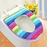 Purple : Colorful Toilet Set Cover Wc Seat Cover Bath Mat Holder Closestool Lid Cover Toilet Seat Cushion Toilet Seat Cover ZH01082