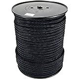 Polyesterseil Seil Polyester 2mm 100m Schwarz Geflochten