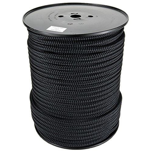 Polyesterseil Seil Polyester 3mm 100m Schwarz Geflochten