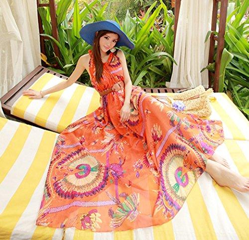 Brinny -  Vestito  - Senza maniche  - Donna Arancione