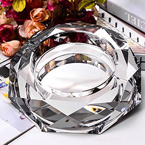 cenicero de cristal para fumador regalo oficina en casa mesa decoración plateado