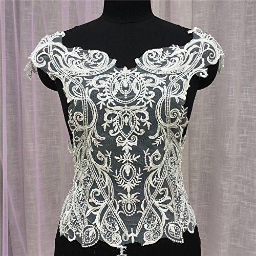 Kostüm Borten Tanz Muster Und - Selene Perlen Stickerei Spitze Aufnäher, Perlen Muster für Mieder, Hochzeit Kleid Perlen Spitze Motiv