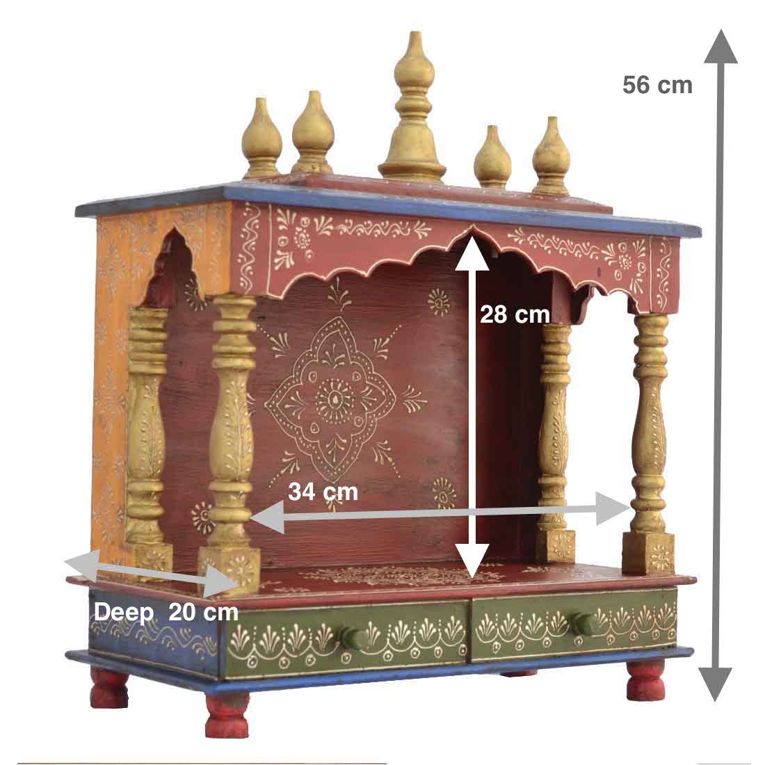 Buy Home Temple/ Wooden Temple/ Pooja Mandir/ Mandap/ Temple For Home  Online At Low Prices In India   Amazon.in