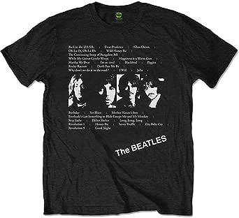 Générique The Beatles White Album Tracks (Back Print) T-Shirt Homme