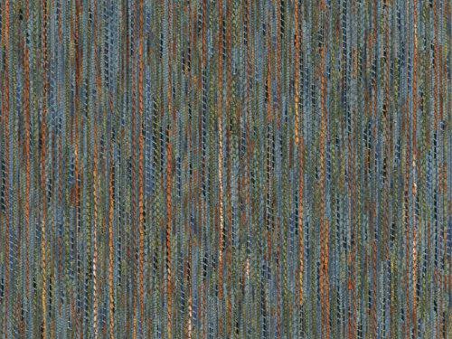 Landhaus Möbelstoff Garmisch Farbe 35 (blau, hellblau) - modernes Chenille-Flachgewebe (gemustert, gestreift, Fleckerlteppich-Optik) Polsterstoff, Stoff, Bezugsstoff, Eckbank, Couch, Sessel, Hussen, Kissen - Blau Chenille Möbelstoff
