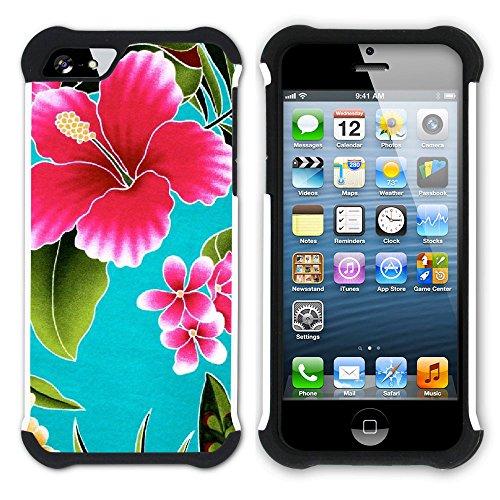 Graphic4You Hawaiisch Hawaii Postkarte Hart + Weiche Kratzfeste Hülle Case Schale Tasche Schutzhülle für Apple iPhone SE / 5 / 5S Design #5