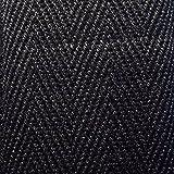 KRAFTZ® Baumwoll-Schrägband, 25mm x 50m Rolle, für Bastelarbeiten, Wimpelketten, Näharbeiten, Drillich-Borte mit Fischgrätenstich Schwarz