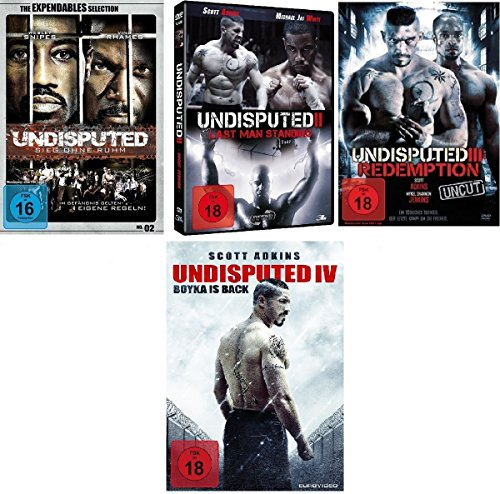 DVD Set Undisputed 1-4, uncut I, II, III,IV Sieg ohne Ruhm, Redemption, Last man Standing, Boyka is back 1,2,3,4 dvds