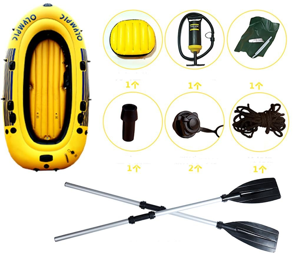 NUOAO Inflatable boat fishing boat yacht thicker kayak
