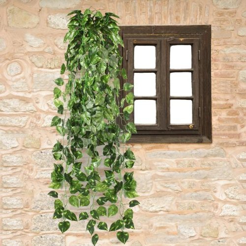 Ecloud Shop Decoración de la boda de la guirnalda del follaje de la planta de la vid de Scindapsus artificial los 90CM