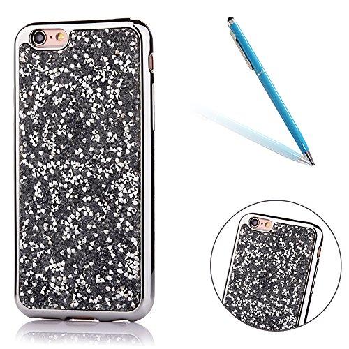 iPhone 5s Hülle, Kristal Glitzer CLTPY iPhone SE Ultradünne Glänzend Plating TPU Handytasche mit Sparkly Bling Diamant, Weich Stoßdämpfend Silikon Schale Fall für 4.0