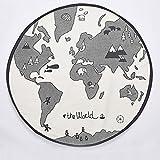 Minions Boutique Weltkarte Spiel Matten Baby Cartoon Teppich Kinder Jungen M?dchen Warme Runde Kinder Matte Teppiche Spielen Spielzeug