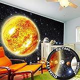 Fototapete Sonnensystem Planeten Wandbild Dekoration Galaxie Cosmos Space Universum All Sky Sterne Galaxy Weltraum Earth  Foto-Tapete Wandtapete Fotoposter Wanddeko by GREAT ART (336 x 238 cm)