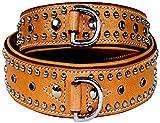 Michur 4260293351647 Hundehalsband Leder Bartelome, Groß 55 cm (Halsumfang 41-49 cm), beige