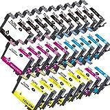 ZR-Printing ZR-12XL Ersatz-Tintenpatronen für Espon T1291 1292 1293 1294 (20Pack) kompatibel für Epson SX 525WD SX 435W SX 420W BX 525WD BX 535WD BX 635FWD BX 320FW BX 305F BX305FW Drucker (10schwarz,6gelb, 6cyan, 6magenta)