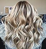 Ugeat 22 Zoll 100g Tressen Echthaar Weaving Extensions Ombre #10/613 Golden Brown Mit Bleach Blonde Brazilian Hair 1 Bundle