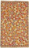 CarpetFine Kelim Afghan Teppich 122x198 Multicolor - Geometrisch