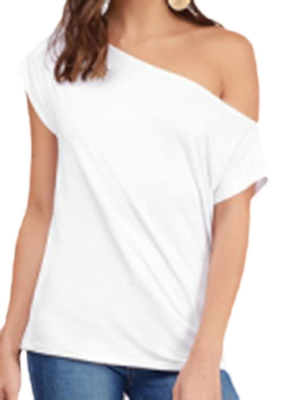 erdbeerloft - Damen Casual Basic T-shirt off-shoulder, 34-40, Viele Farben:  Amazon.de: Bekleidung