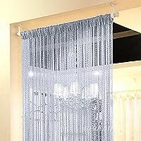 ❤1*2m Einfarbig Fadenvorhang Modern Gardine Raumteiler Türvorhang Vorhang Deko