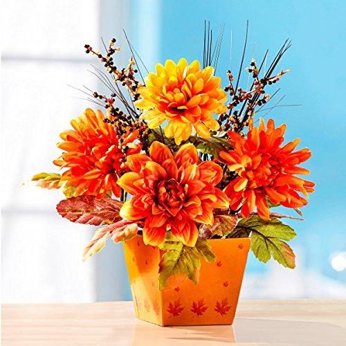 """Gesteck """"Goldener Herbst"""" , Kunstblumen Gesteck als Herbst Deko"""