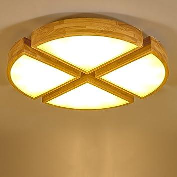 Legno nordico creativo luce regolabile in legno arte circolare ...