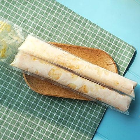 Lanlan Ice Candy Frozen Ice Cream Joghurt-20Stück/Menge Einweg Kunststoff DIY Ice Pop Formen für Popsicle Packbeutel