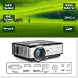LCD HD projecteur vidéo, 4000 lumens WXGA multimédia LED projecteur Home Cinema...