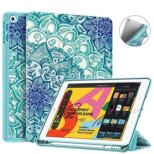 """Fintie Hülle für Neu 2019 iPad 10.2\"""" - SlimShell Superleicht Soft TPU Rückseite Abdeckung Schutzhülle mit eingebautem Pencil Halter, Auto Sleep/Wake für iPad 7. Generation 2019, smaragdblau"""