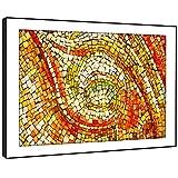BFAB1186d - Framed Print Wandkunst - orange, grün, Mosaik-Fliesen moderne abstrakte Landschaft Wohnzimmer Schlafzimmer Stück Wohnkultur einfache Anleitung (72x51cm) hängen