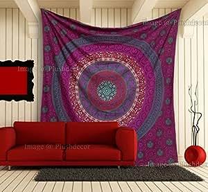 Rose Floral Mandala Tapisseries Elephant Tapisseries Hippie Throw Bohemian Wall Hanging Boho Psychedelic Bedsheet Reine Mandala Cotton Tapisserie Bedspread Plage Sheet