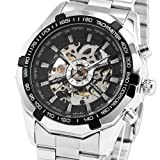 Best Mens Watches - ESS Men's Black Bezel Skeleton Dial Stainless Steel Review