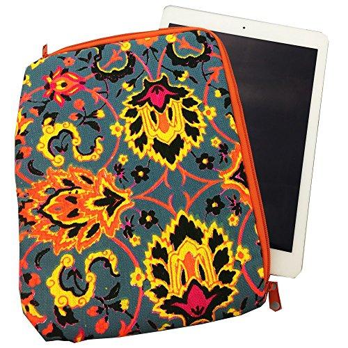 20,3cm Canvas Stoff Laptop Sleeve Schutzhülle Tasche Cover für iPad Air iPad 234Air 2iPad Pro 9,7 Grau Grau -