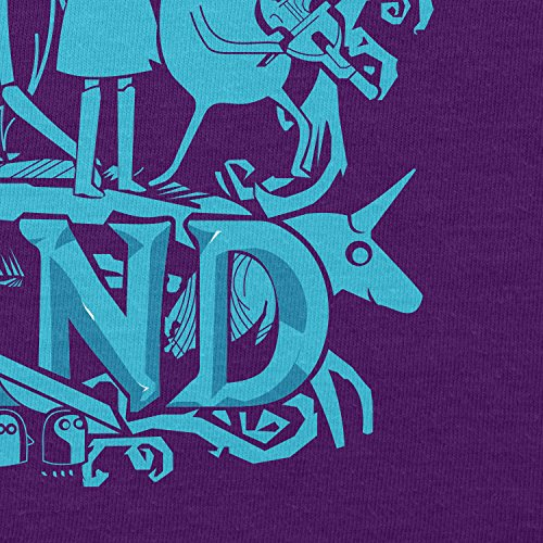 TEXLAB - Genuine Band - Herren T-Shirt Violett