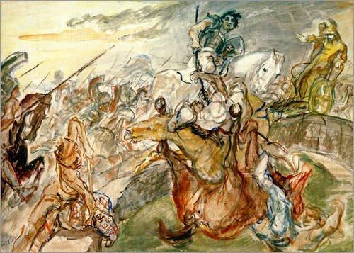 Posterlounge Holzbild 130 x 90 cm: Schlacht bei Issus von Max Slevogt/akg-Images
