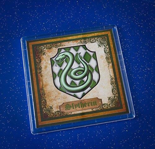 Set-of-4-Harry-Potter-Coasters-Gryffindor-Slytherin-Hufflepuff-Ravenclaw