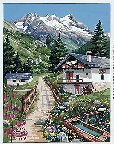 Royal Paris Tapisserie/broderie sur toile–Vacances dans les Alpes