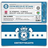 Einladungskarten zum Geburtstag (80 Stück) als Fußballticket Karte Fussball Einladung Ticket in Blau