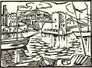Reproduction 60 x 75cm - Maurice de Vlaminck - 1913 Le vieux port de Marseille, gravure -