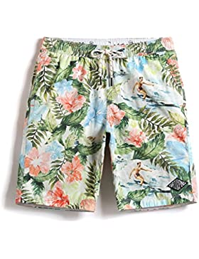 HAIYOUVK Holiday Beach Pants Men'S Slim Splash-Proof Casual Shorts Oil Painting Pants Pants Shorts,S,Oil Painting...