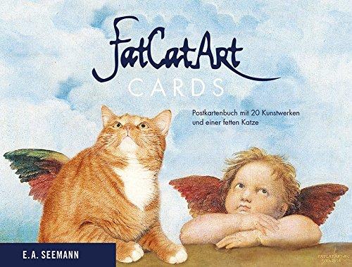 Fat Cat Art. Cards: Postkartenbuch mit 20 Kunstwerken und einer fetten Katze