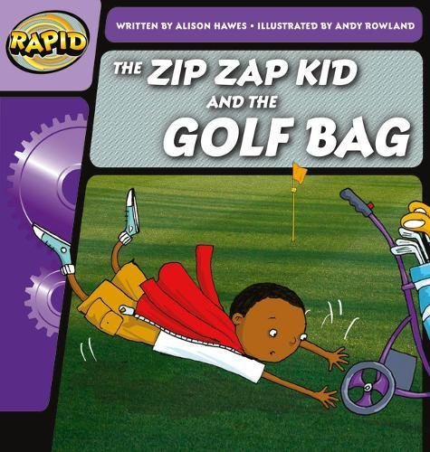 The Zip Zap Kid and the golf bag