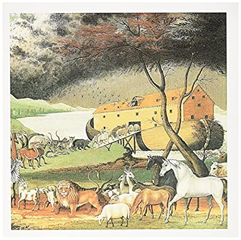 3dRose 8 x 8 x 0.25 Inches Noahs Ark by Edward Hicks American Art Greeting Cards, Set of 6