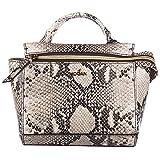 Hogan borsa donna a mano shopping in pelle nuova grigio
