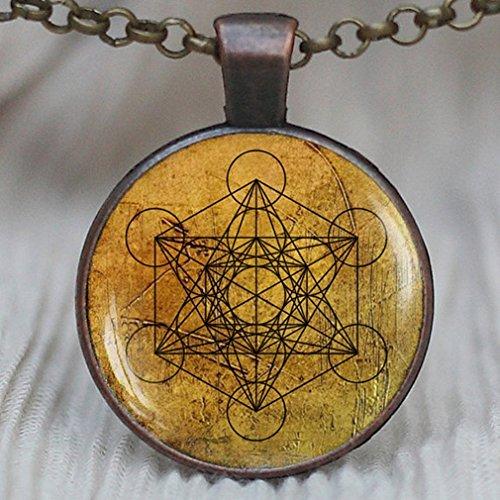 Colgante de cubo de Metatron, Sagrada joyería de geometría, collar geométrico, collar de geometría sagrada, joyería para hombre, collar para hombre